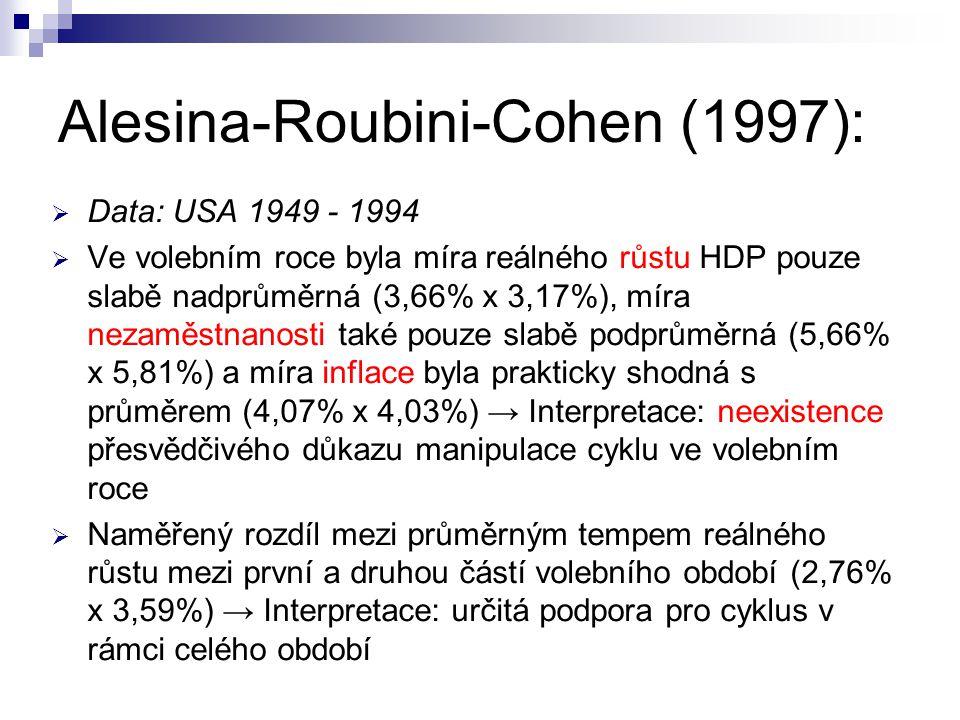 Alesina-Roubini-Cohen (1997):