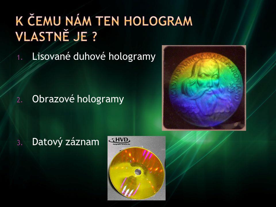 K čemu nám ten hologram vlastně je
