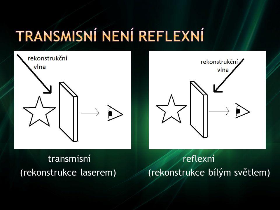 Transmisní není reflexní