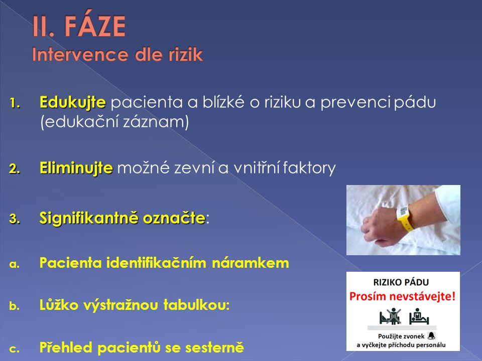 II. FÁZE Intervence dle rizik
