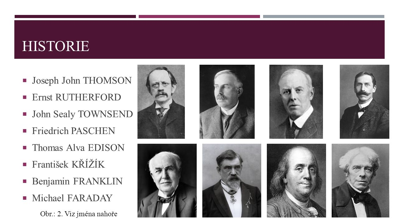 Historie Joseph John THOMSON Ernst RUTHERFORD John Sealy TOWNSEND