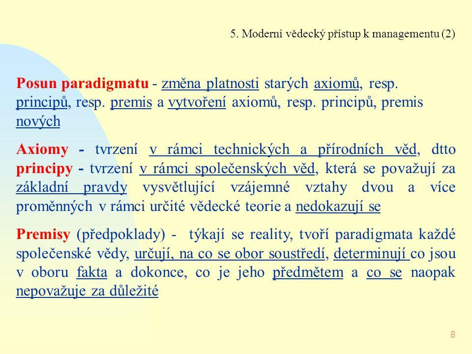 5. Moderní vědecký přístup k managementu (2)