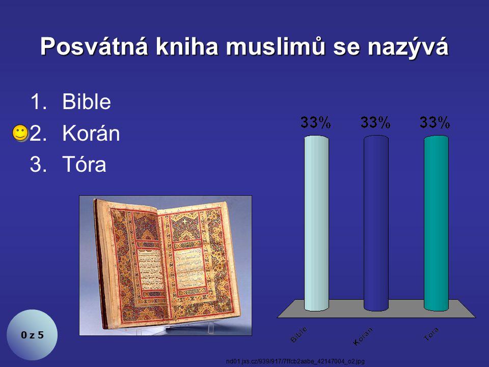 Posvátná kniha muslimů se nazývá