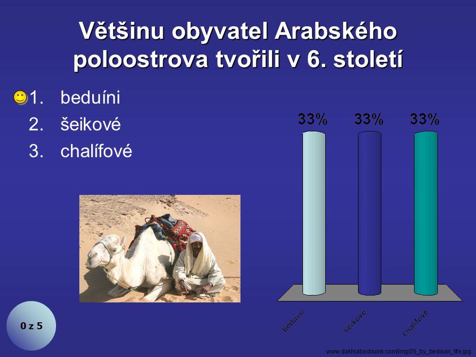 Většinu obyvatel Arabského poloostrova tvořili v 6. století
