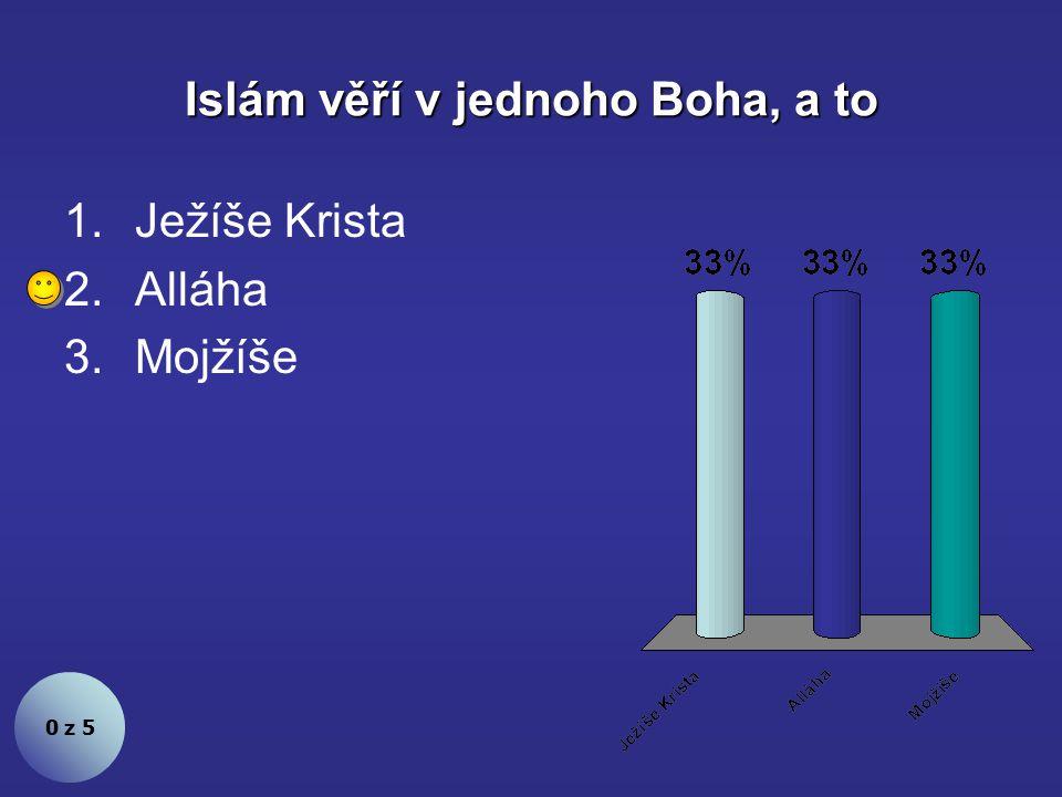 Islám věří v jednoho Boha, a to