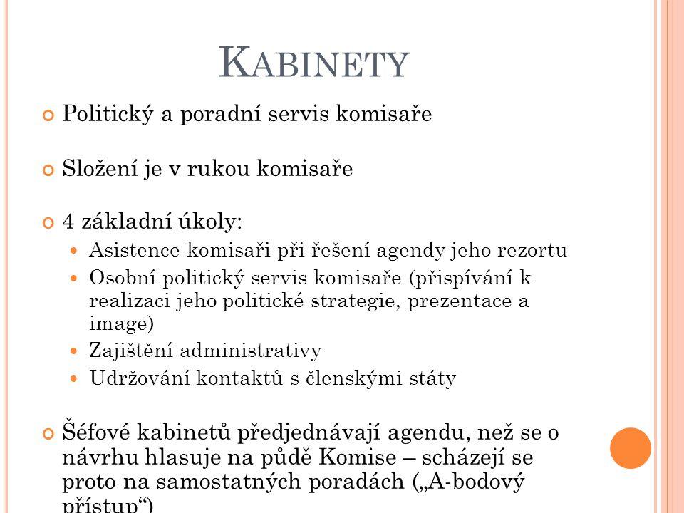 Kabinety Politický a poradní servis komisaře