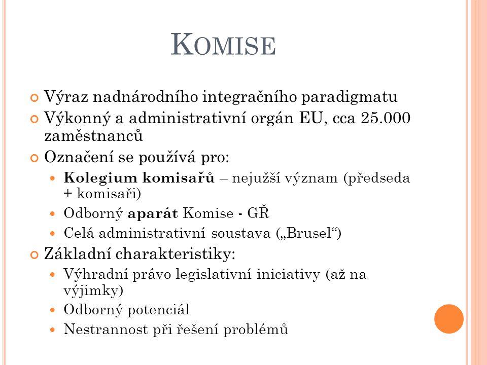 Komise Výraz nadnárodního integračního paradigmatu
