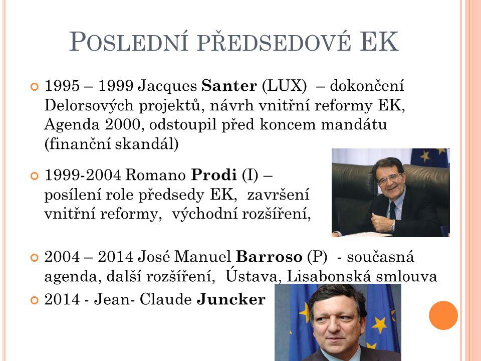Poslední předsedové EK