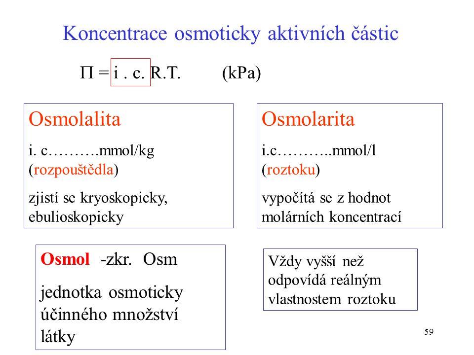 Koncentrace osmoticky aktivních částic