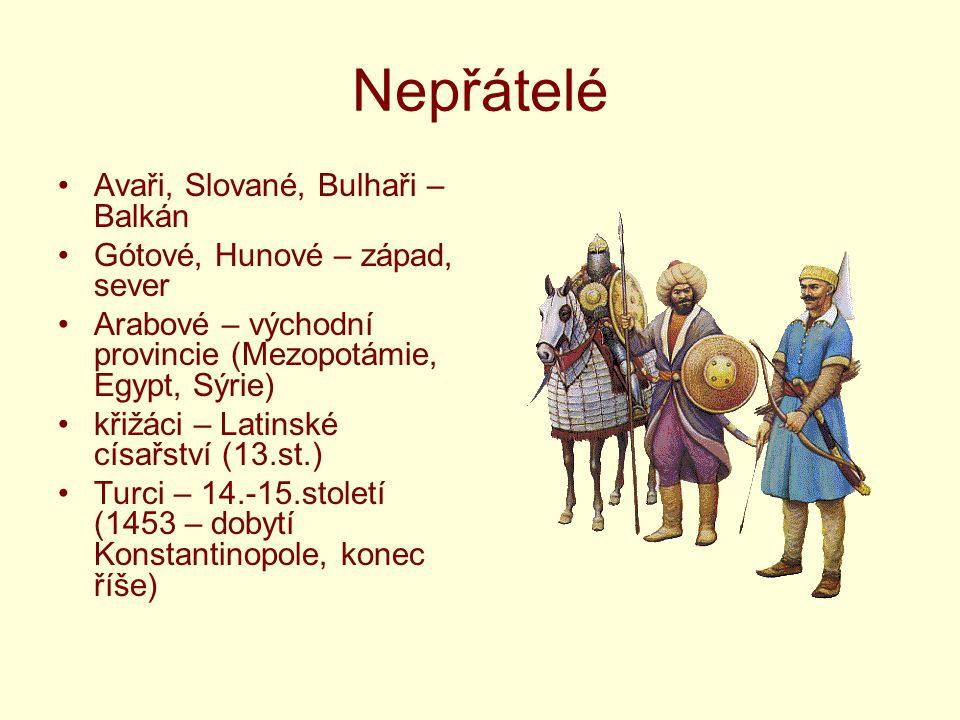 Nepřátelé Avaři, Slované, Bulhaři – Balkán