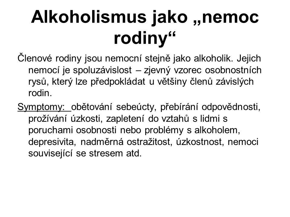 """Alkoholismus jako """"nemoc rodiny"""
