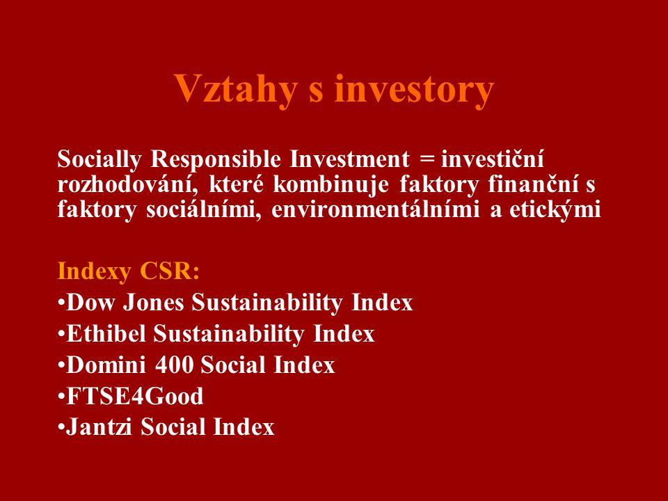 Vztahy s investory