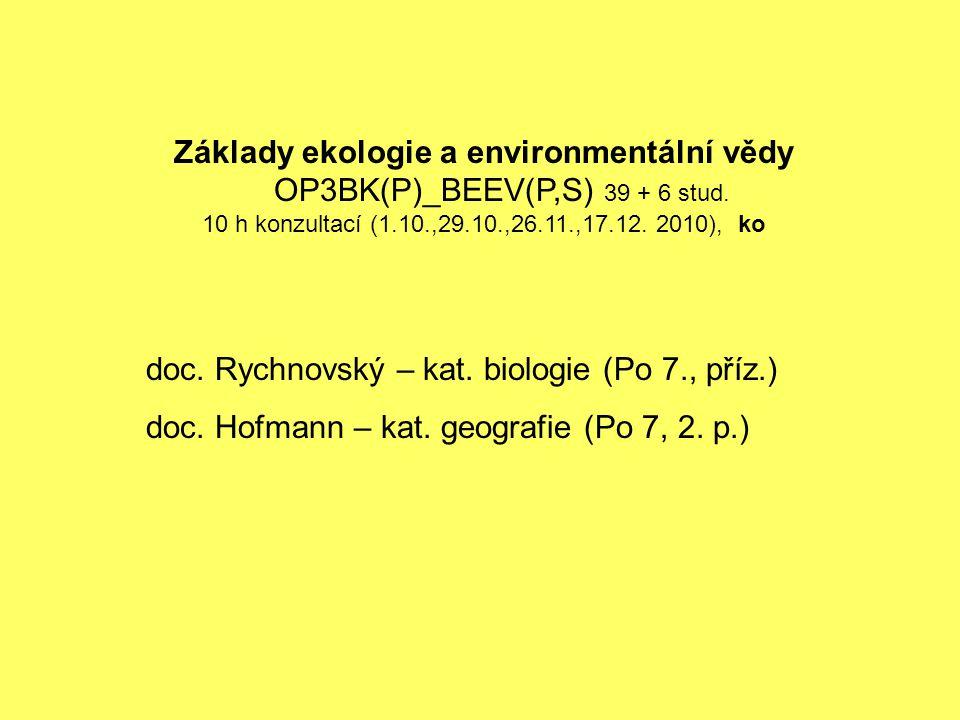 doc. Rychnovský – kat. biologie (Po 7., příz.)