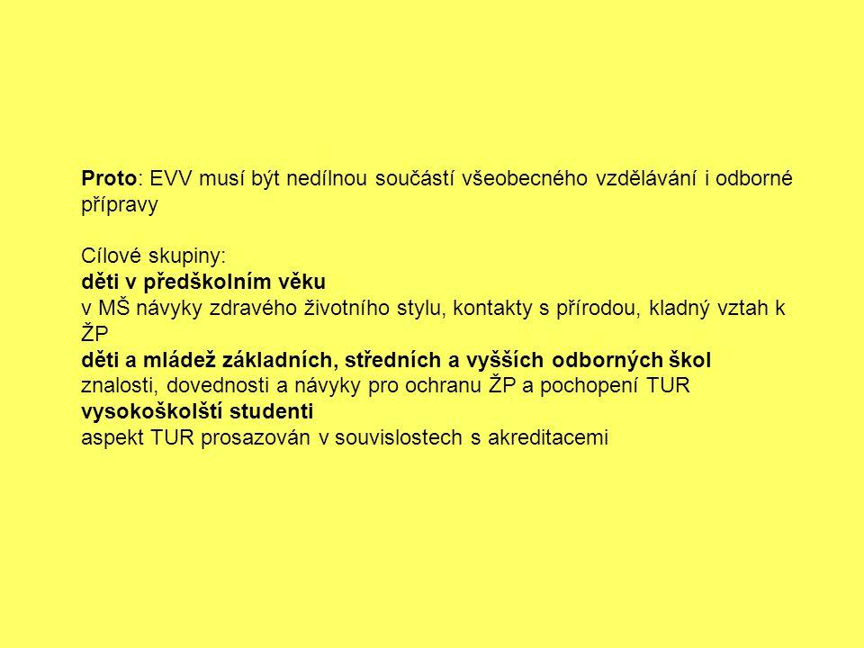 Proto: EVV musí být nedílnou součástí všeobecného vzdělávání i odborné přípravy