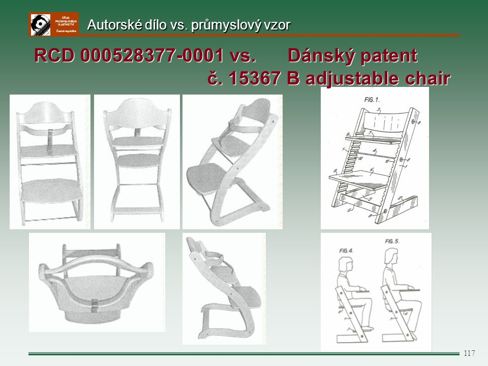 RCD 000528377-0001 vs. Dánský patent č. 15367 B adjustable chair