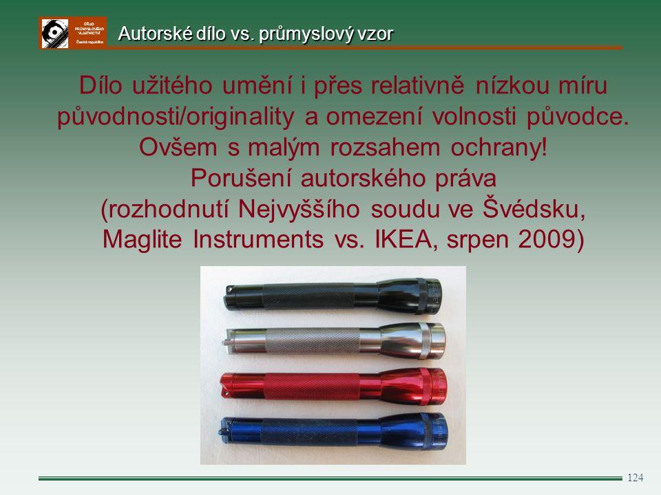 Autorské dílo vs. průmyslový vzor