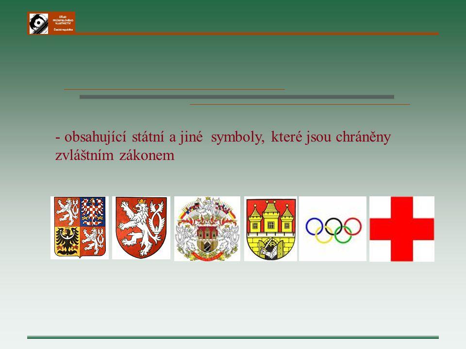 - obsahující státní a jiné symboly, které jsou chráněny zvláštním zákonem
