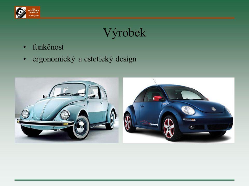 Výrobek funkčnost ergonomický a estetický design