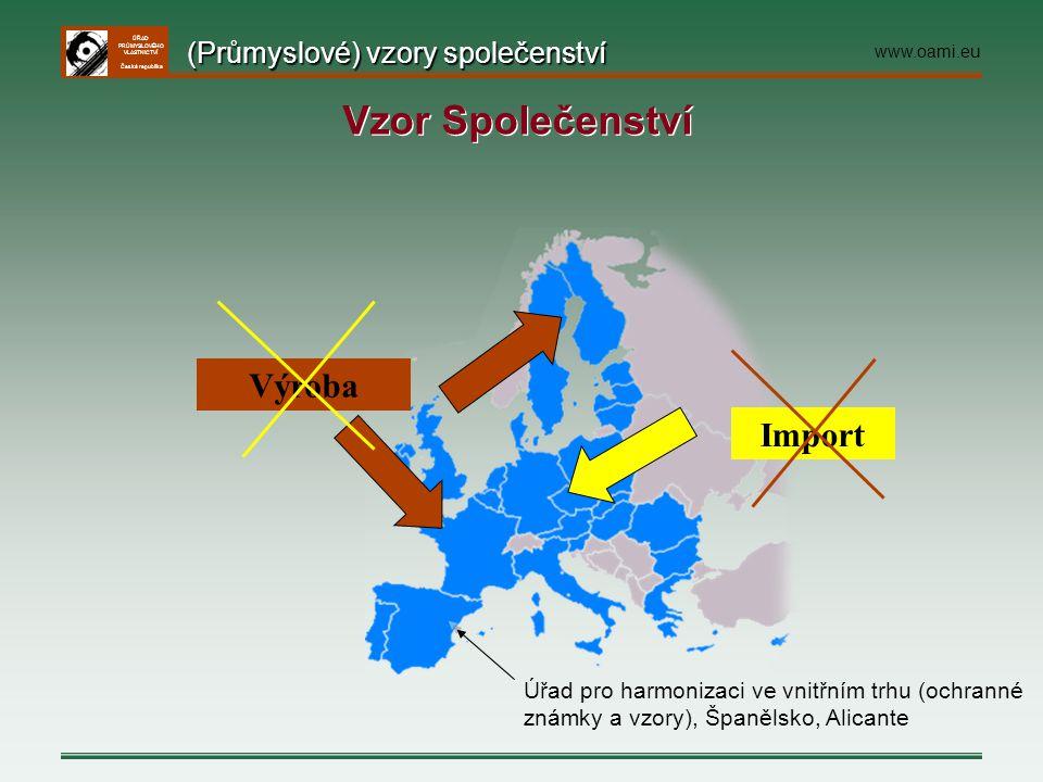Vzor Společenství Výroba Import (Průmyslové) vzory společenství