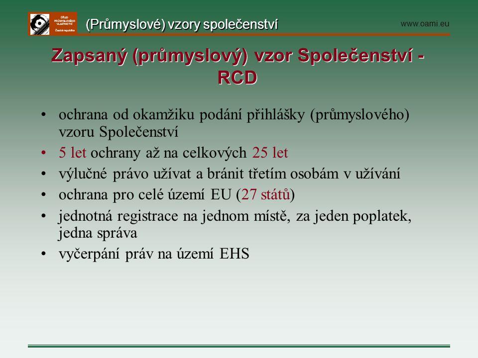 Zapsaný (průmyslový) vzor Společenství - RCD