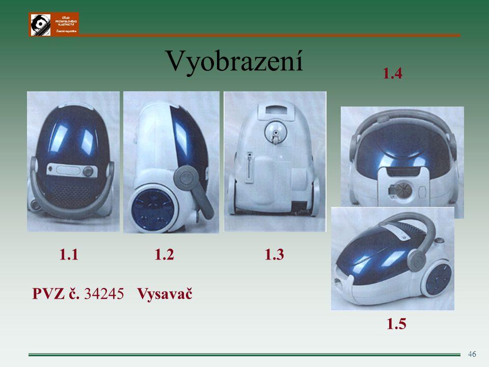 Vyobrazení 1.4 1.2 1.3 PVZ č. 34245 Vysavač 1.1 1.5 46