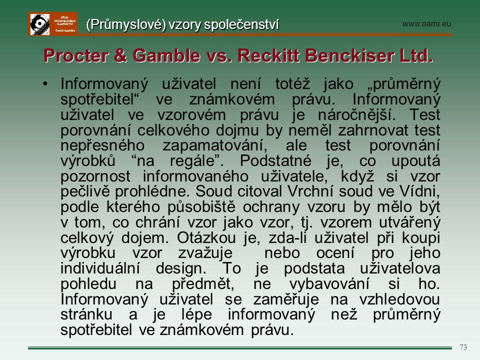 Procter & Gamble vs. Reckitt Benckiser Ltd.