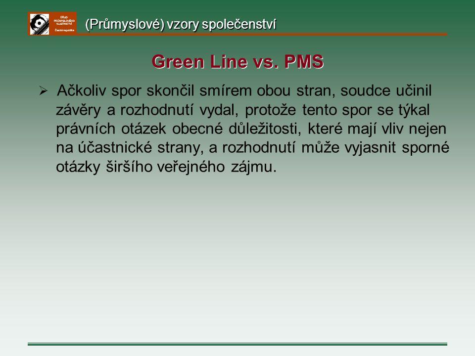 Green Line vs. PMS (Průmyslové) vzory společenství
