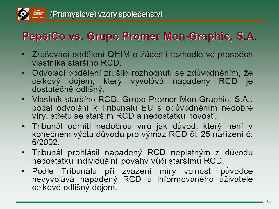 PepsiCo vs. Grupo Promer Mon-Graphic, S.A.