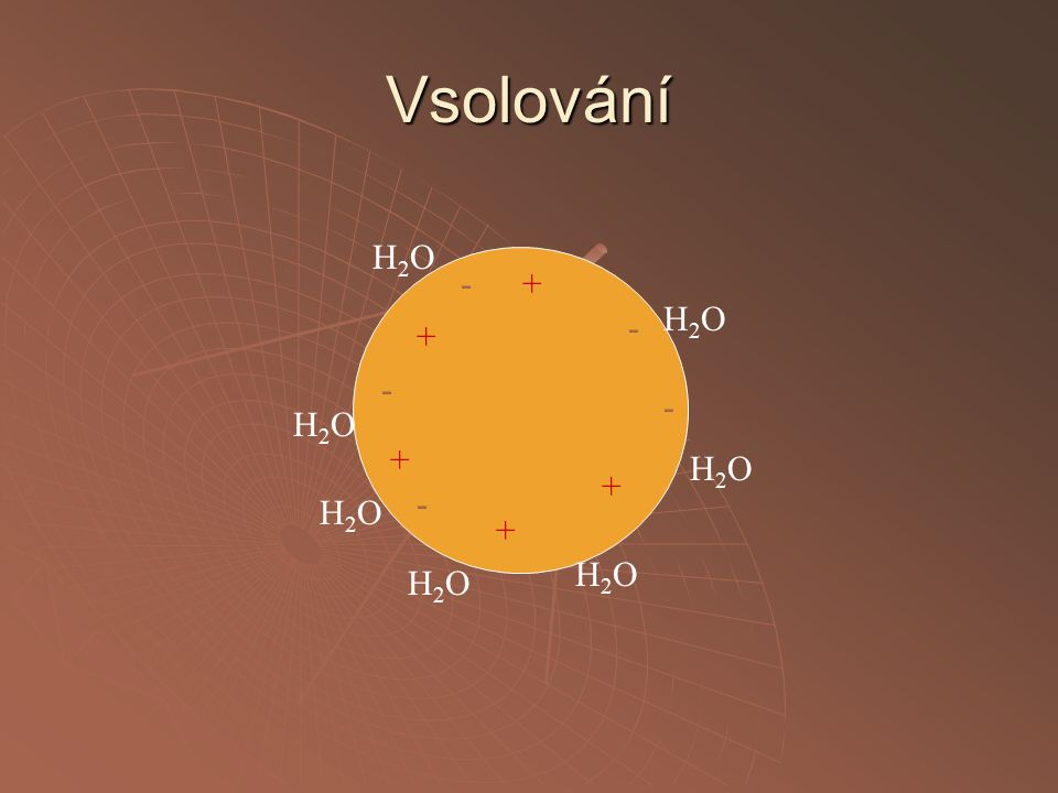Vsolování - + H2O