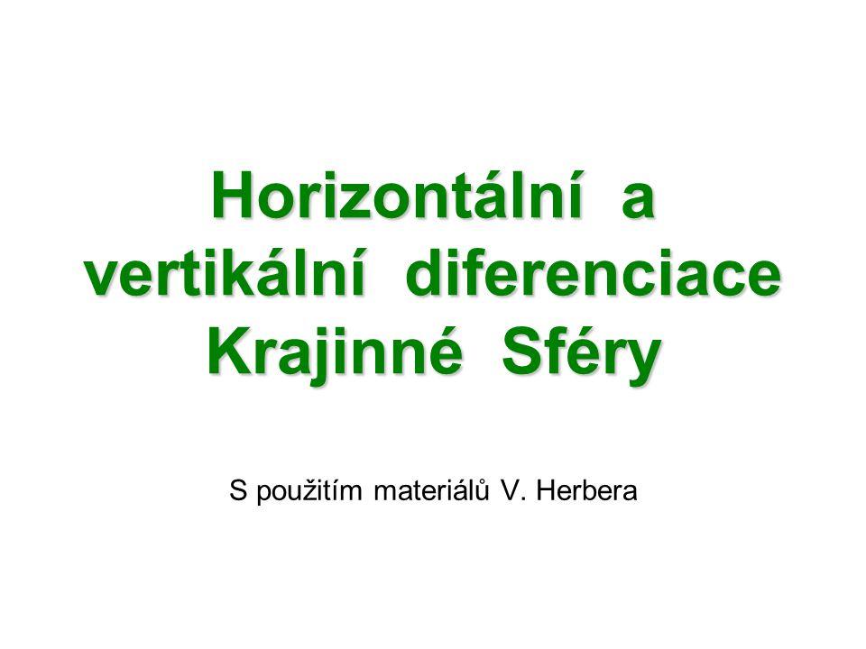 Horizontální a vertikální diferenciace Krajinné Sféry