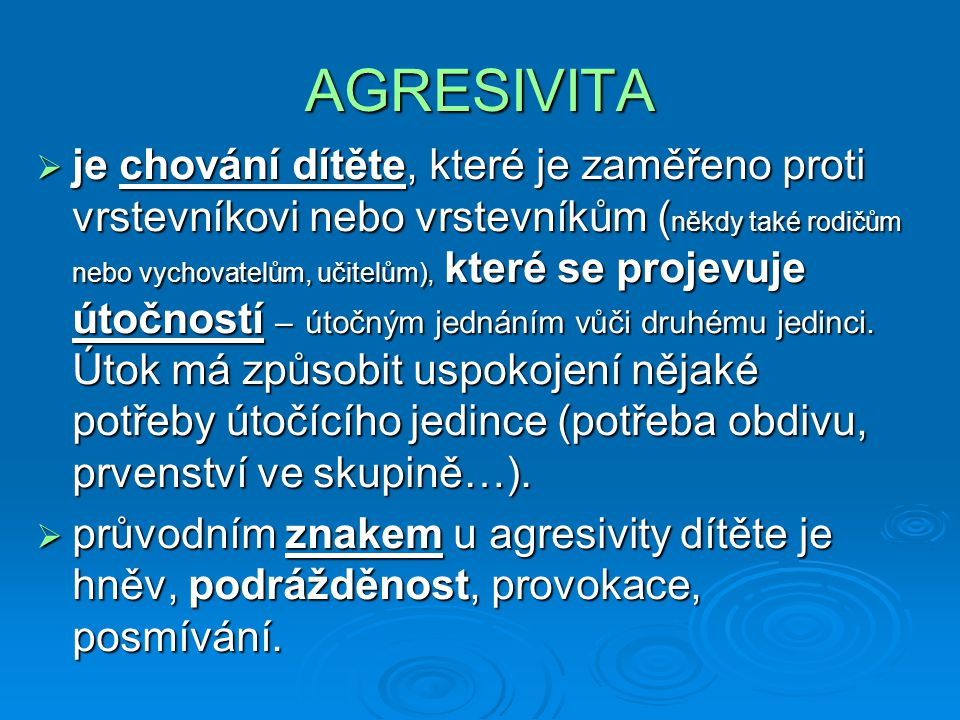 AGRESIVITA