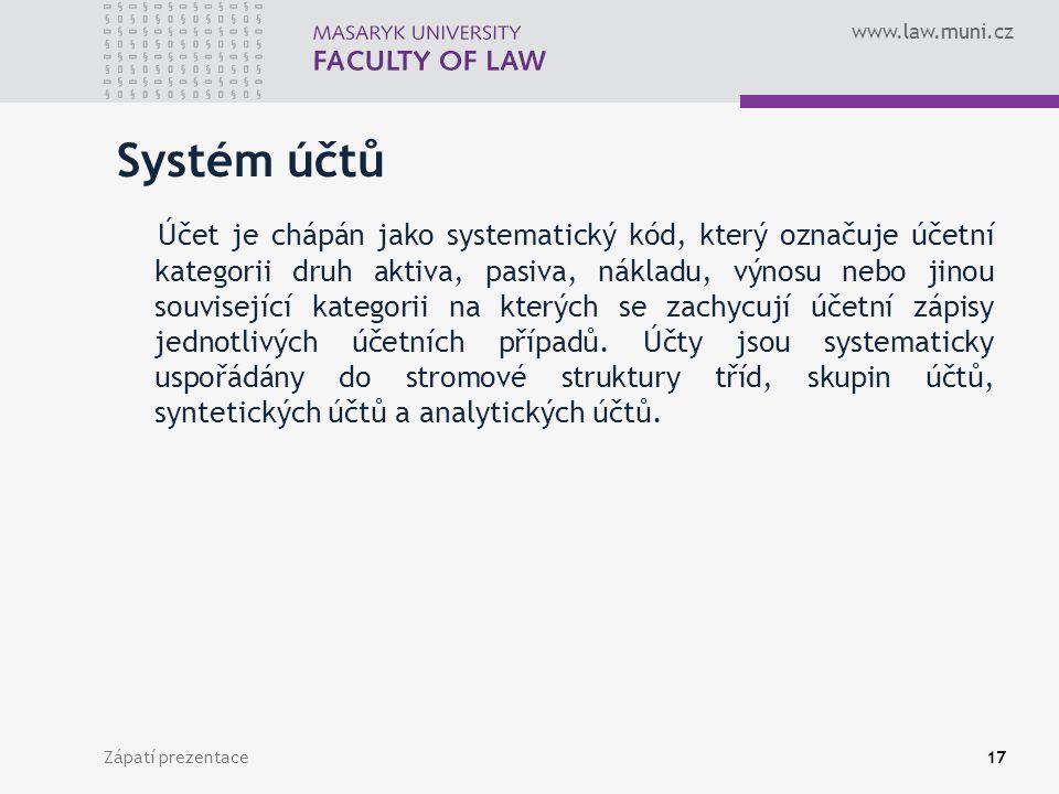 Systém účtů