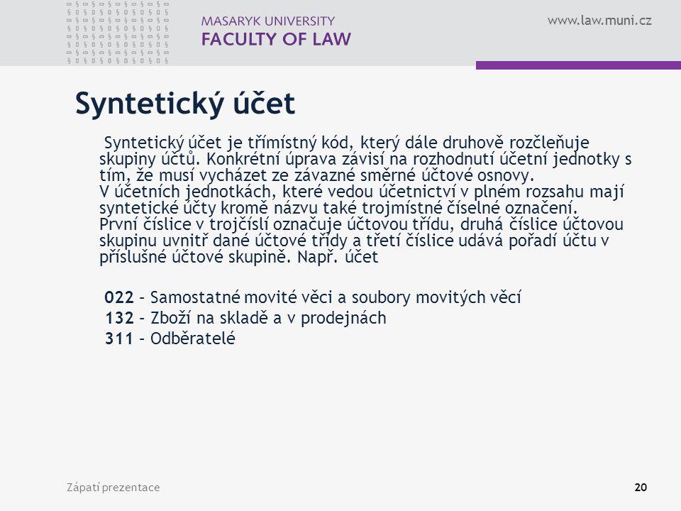 Syntetický účet