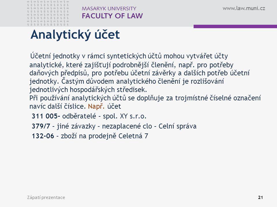 Analytický účet