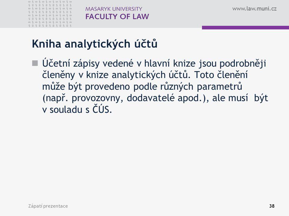 Kniha analytických účtů