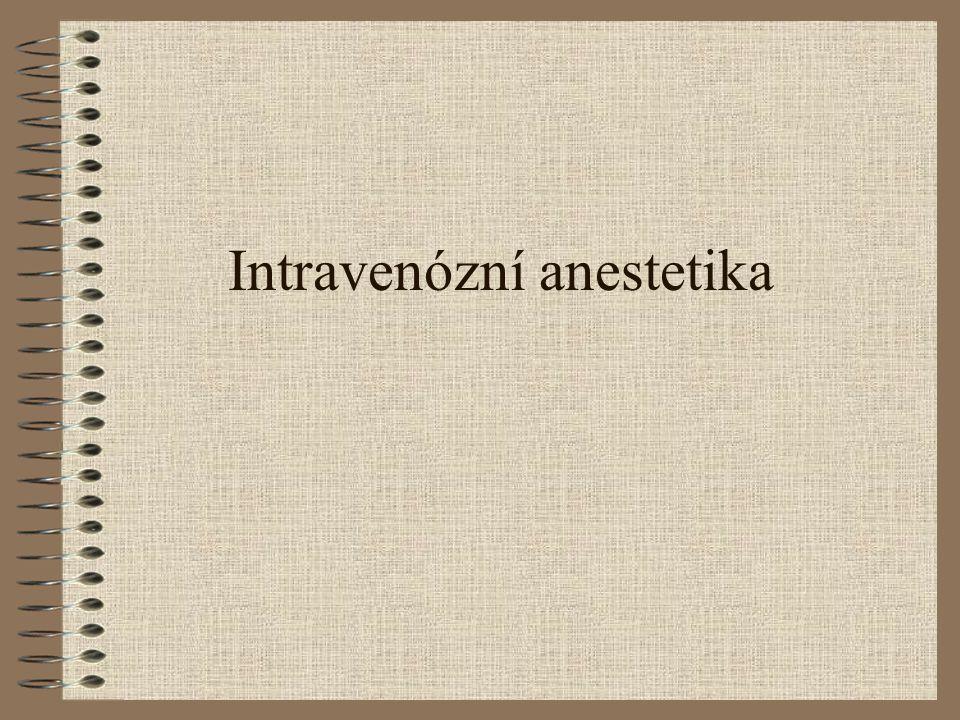 Intravenózní anestetika