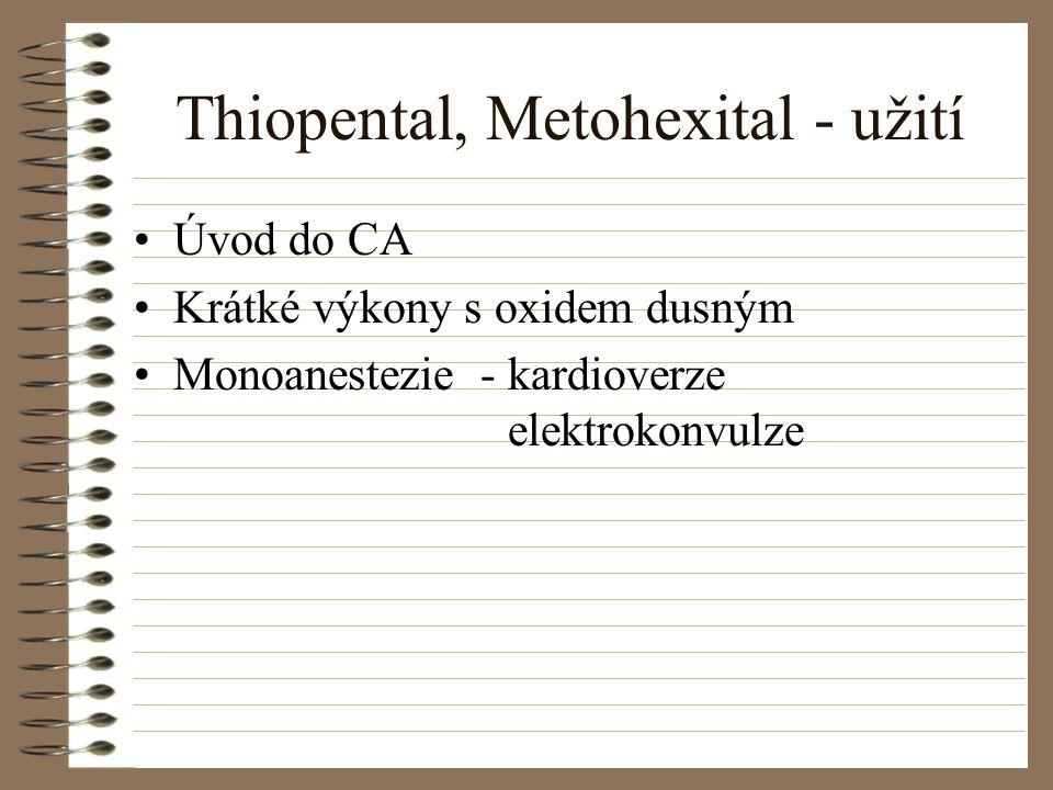 Thiopental, Metohexital - užití