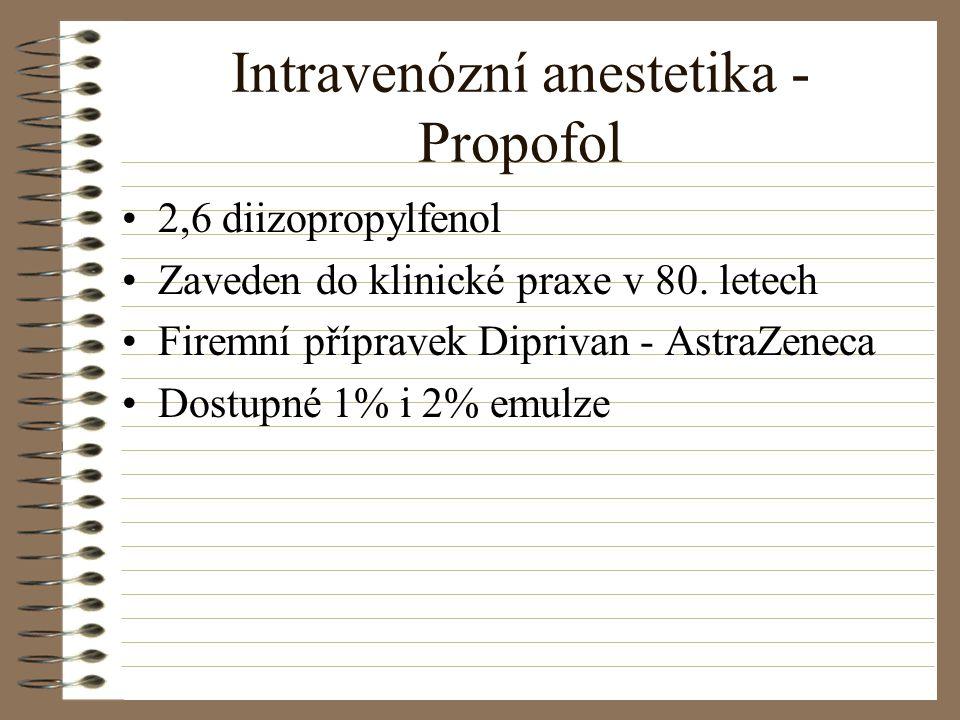 Intravenózní anestetika - Propofol