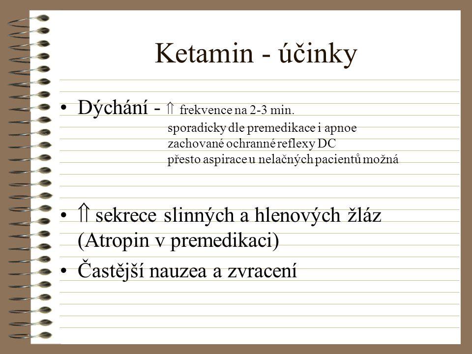 Ketamin - účinky