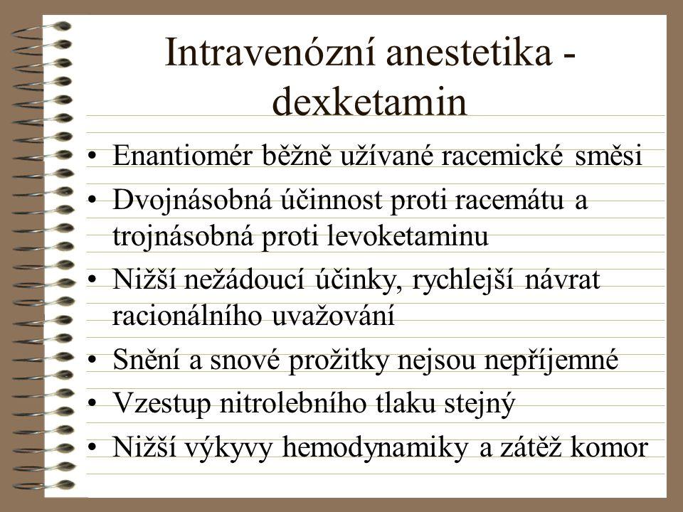 Intravenózní anestetika - dexketamin