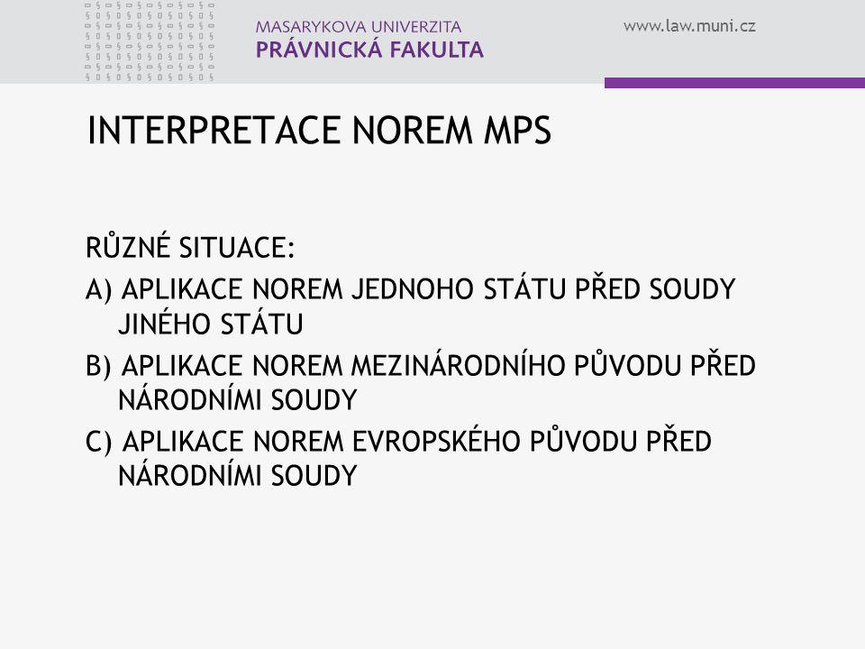 INTERPRETACE NOREM MPS