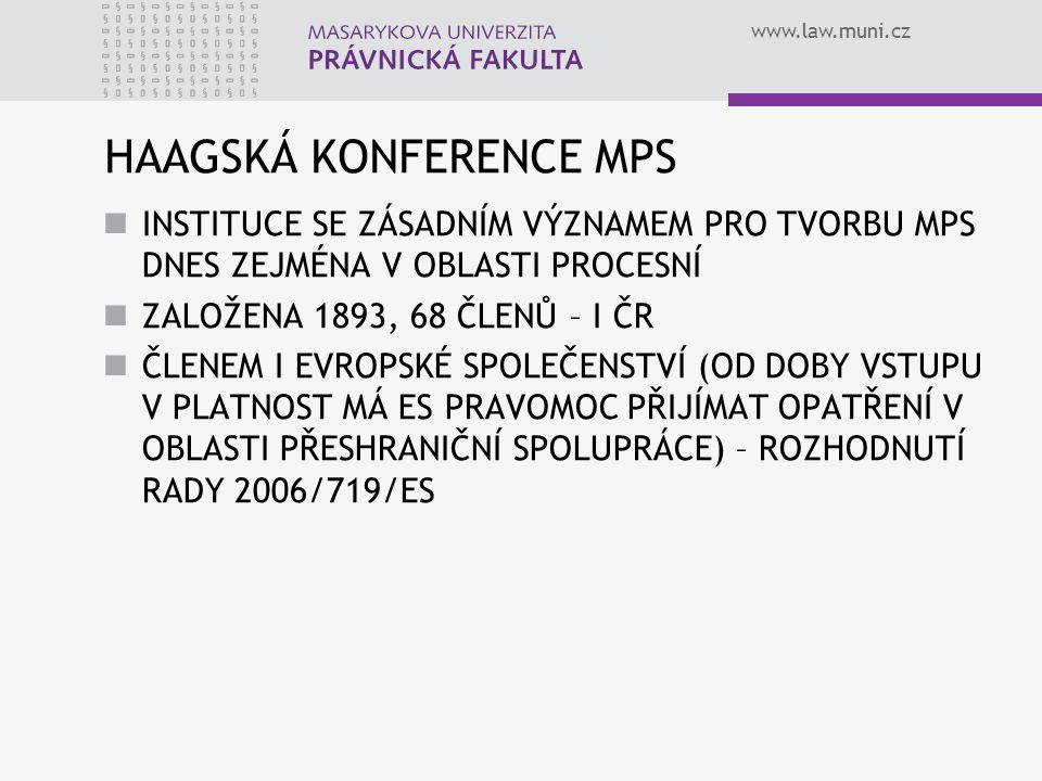 HAAGSKÁ KONFERENCE MPS
