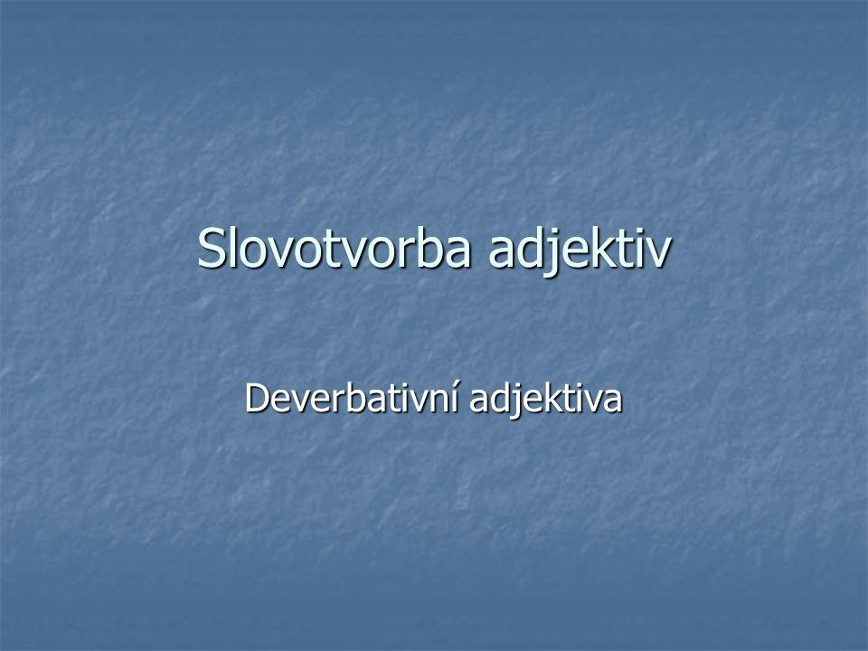 Deverbativní adjektiva