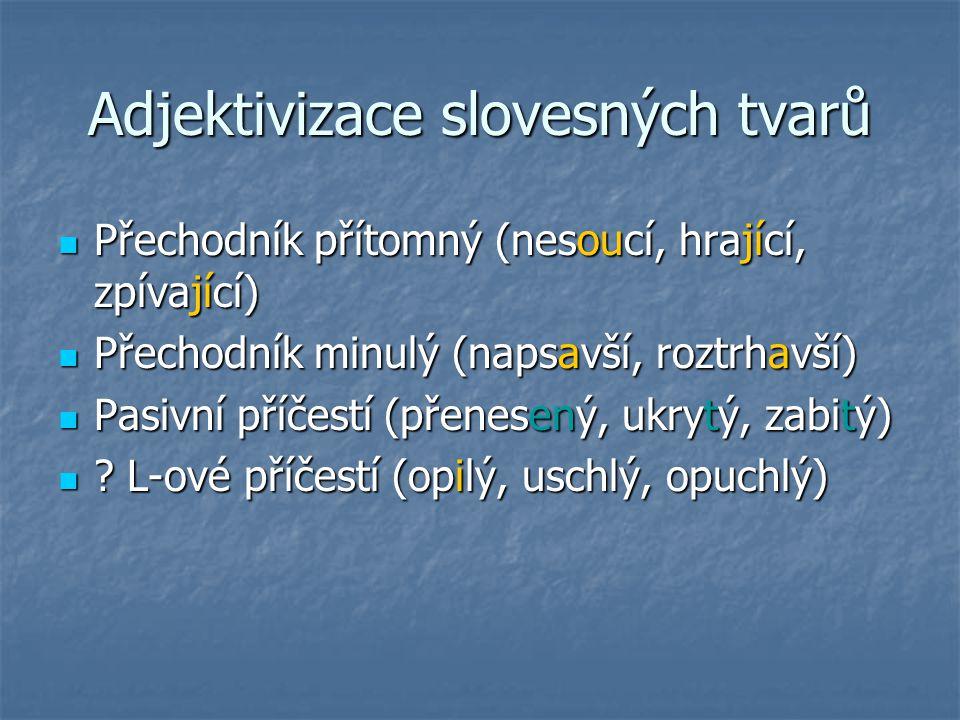 Adjektivizace slovesných tvarů