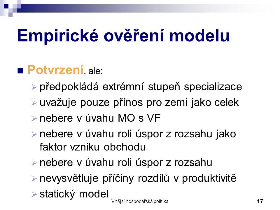 Empirické ověření modelu