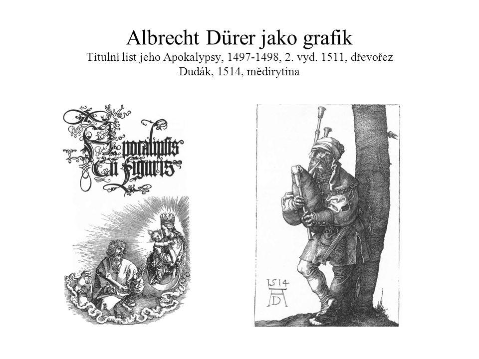 Albrecht Dürer jako grafik Titulní list jeho Apokalypsy, 1497-1498, 2