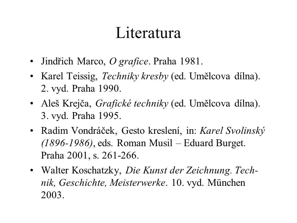 Literatura Jindřich Marco, O grafice. Praha 1981.