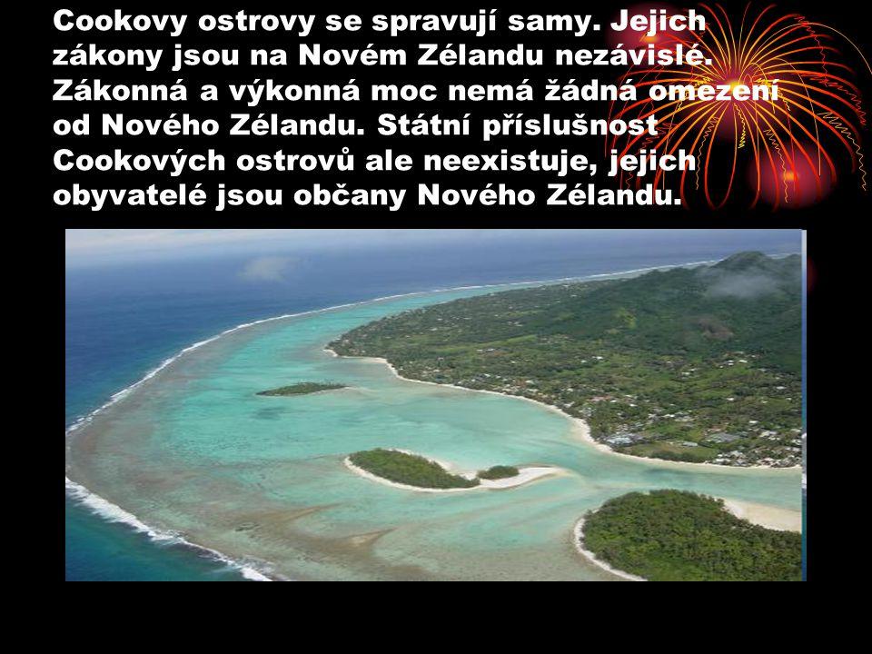 Cookovy ostrovy se spravují samy