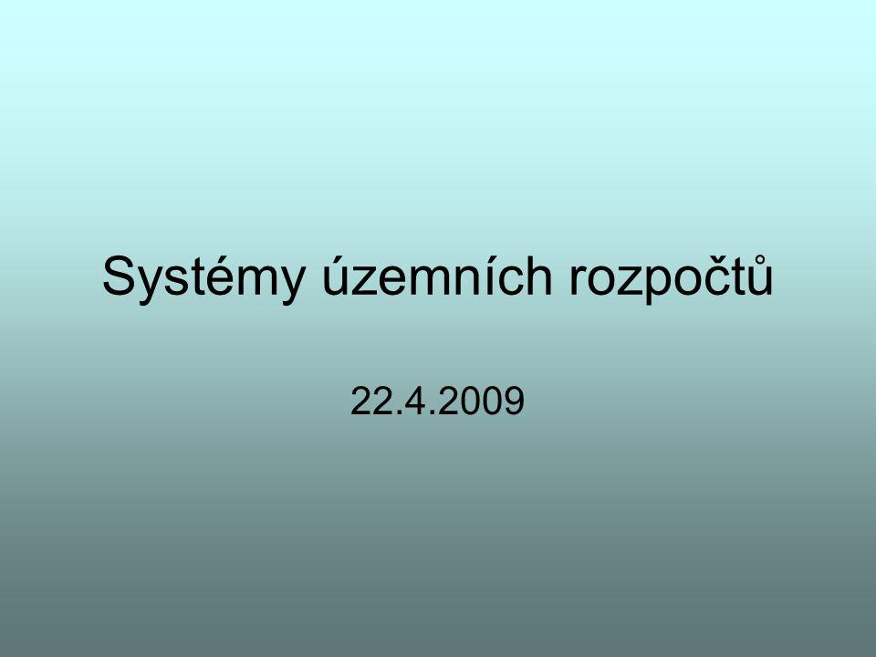 Systémy územních rozpočtů