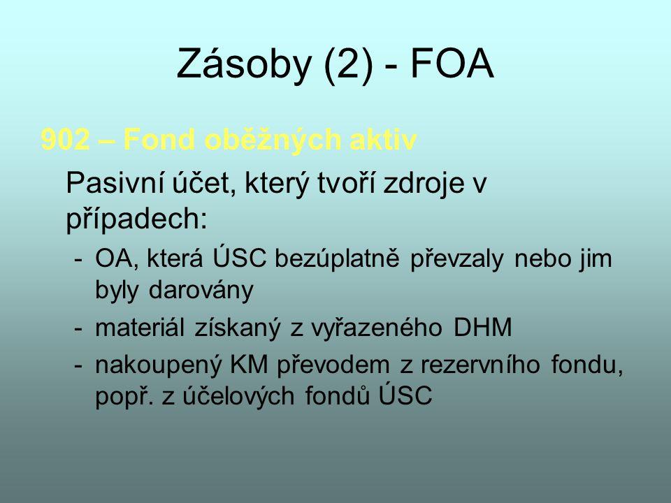 Zásoby (2) - FOA 902 – Fond oběžných aktiv